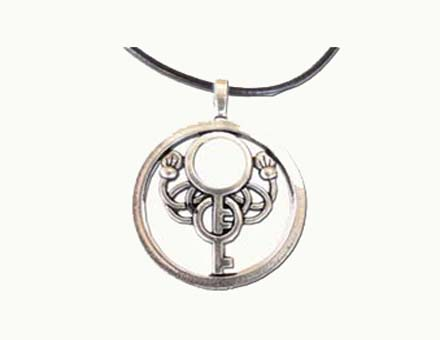 Lois Wagner Jewelry Symbology Japanese Key Necklace Lois Wagner