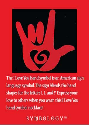 Lois Wagner Jewelry Symbology Love Hand Sign Necklace Lois