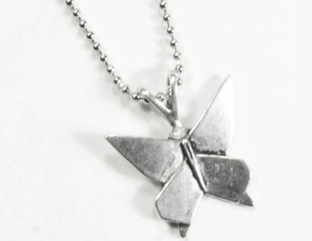 0e7708475d210 Lois Wagner Jewelry – Symbology Origami Butterfly Necklace - Lois ...